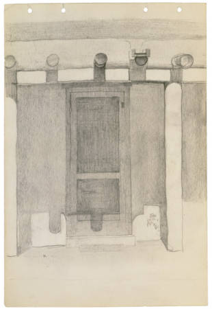 Untitled, Ghost Ranch Patio, c. 1940, Georgia O'Keeffe Museum Collection