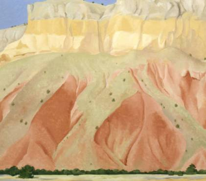 Untitled, (Red and Yellow Cliffs), 1940, Georgia O'Keeffe Museum