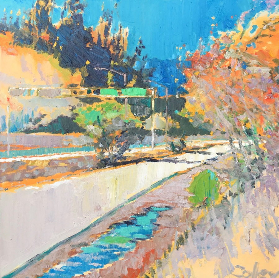 Freeway On Ramp, 36x36